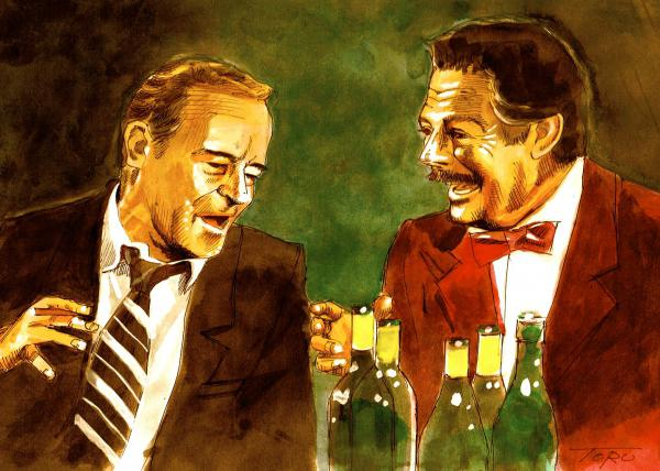 Marcello Mastroianni, Jack Lemmon by eiger3975
